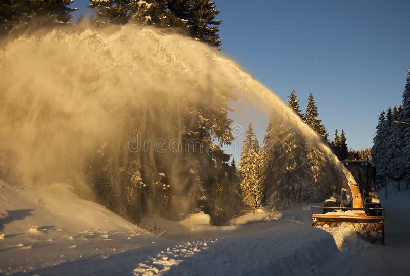 Snow blower vehicle stock image