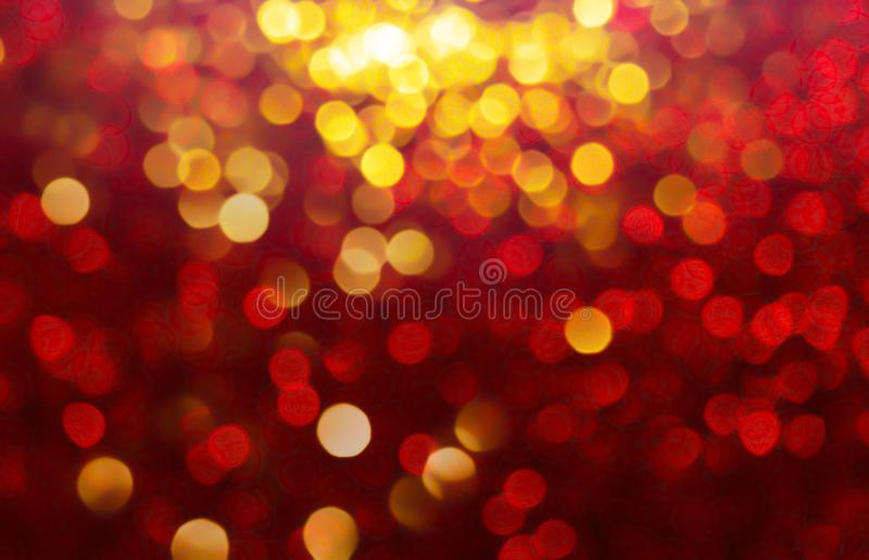 Snow bokeh Backgrounds color red, gold tone blur bokeh light royalty free stock photography