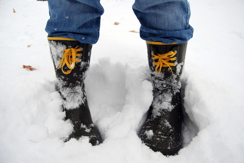 Snow Boots royalty free stock image