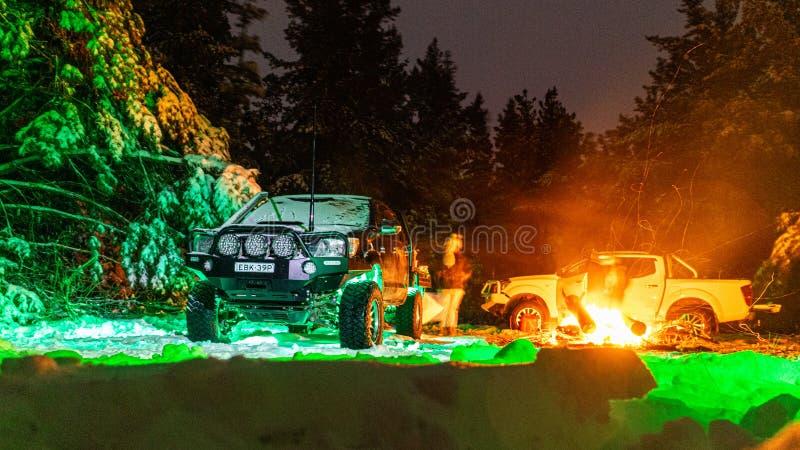 Snow Campfire immagine stock libera da diritti
