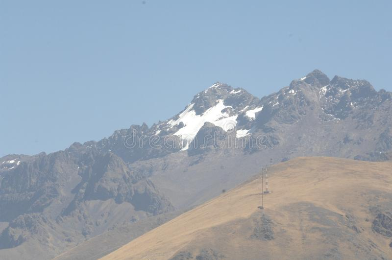 Mountains of Cusco, Peru. Snow capped Andes Mountains near Cusco, Peru stock photography