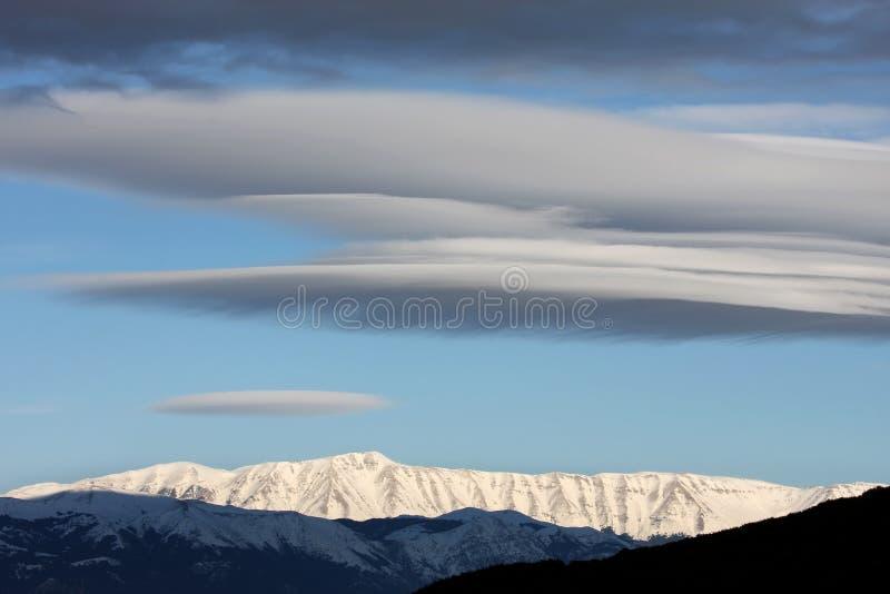 Snow-capped bergen in Gran Sasso, Italië royalty-vrije stock foto's