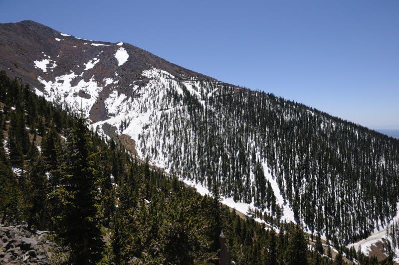 Snow Capped Mountain - Humphreys Peak Stock Photos