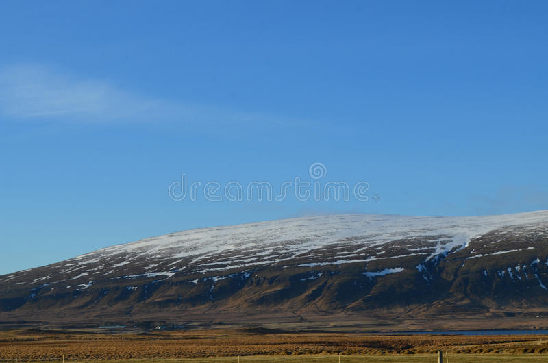 Snow Capped Rhyolite Mountains in Iceland royalty free stock images