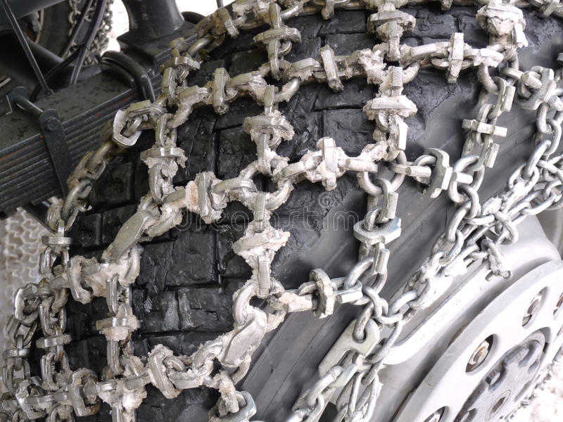 Download Snow Chains on truck stock photo. Image of drive, service - 12425998