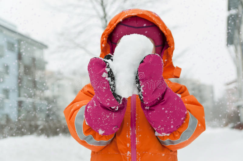 Download Snow ! editorial stock image. Image of child, fresh, winter - 83425639
