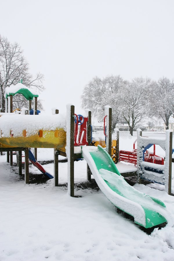 Download Snow On A Children's Playground Stock Photo - Image: 894274
