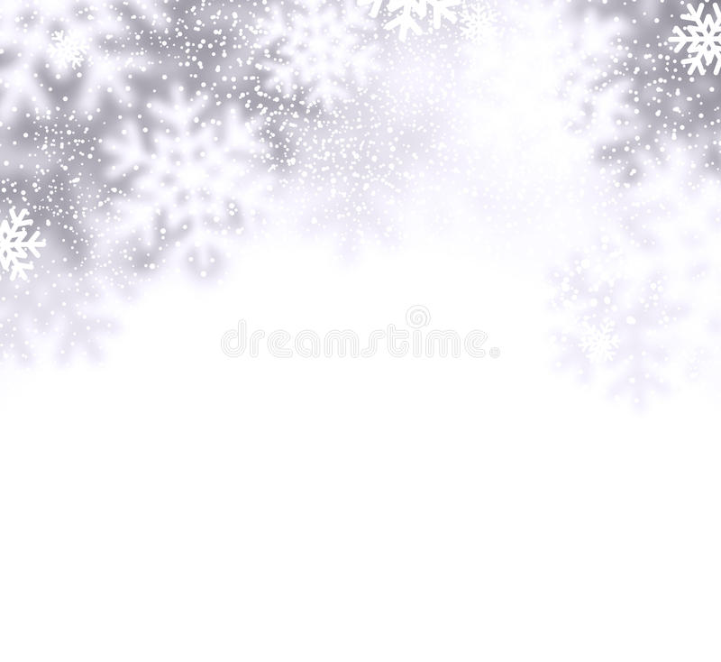 Snow christmas background. stock illustration