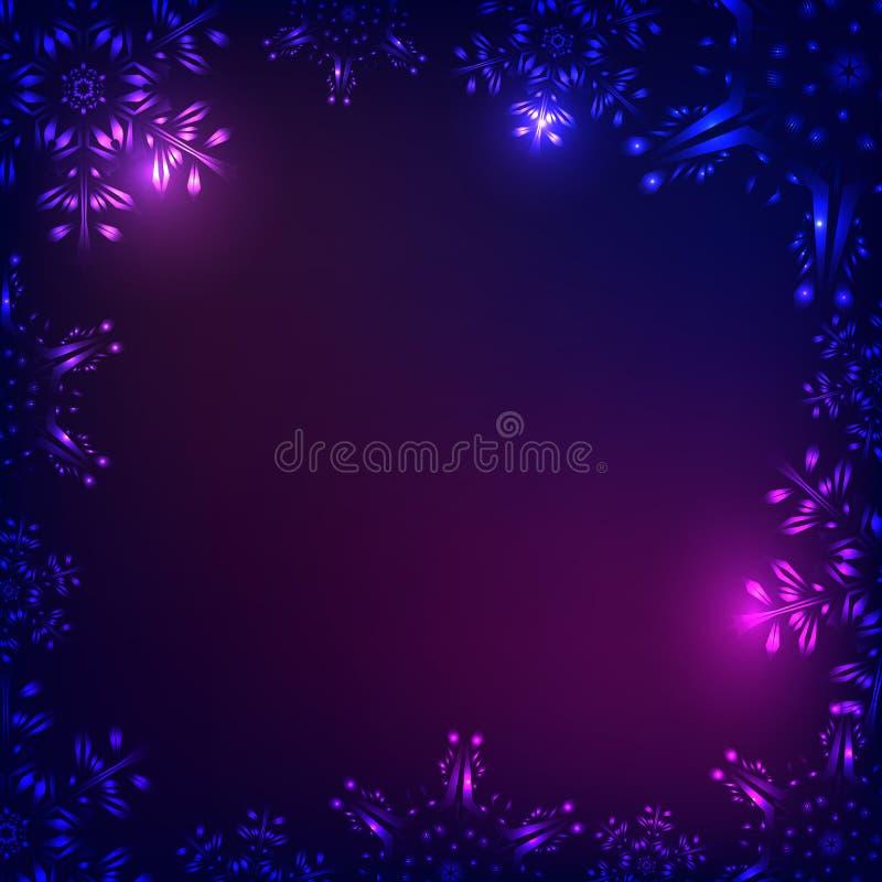 Snow Christmas dark background stock image