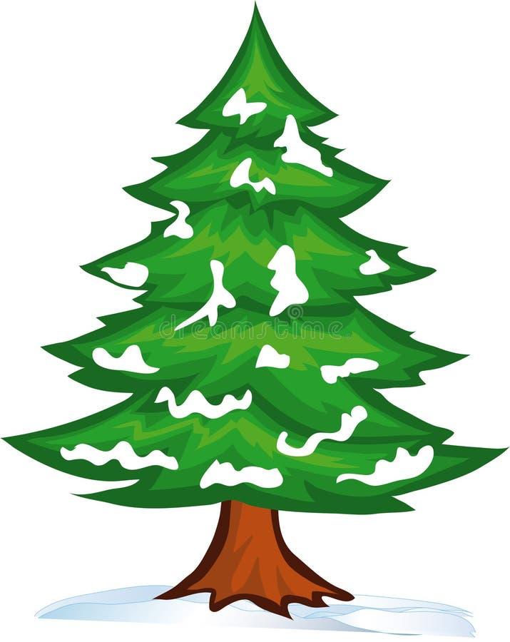 Free Snow Christmas Tree Stock Photography - 16967012