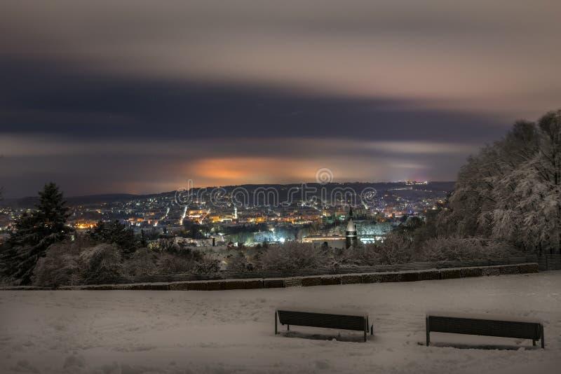 Snowcity 2 stock photography