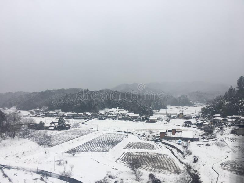 Snow city royalty free stock photo