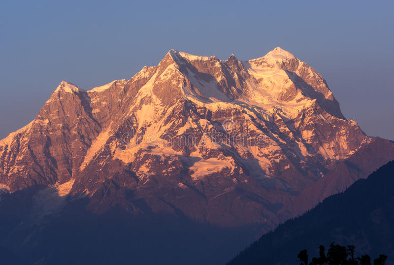 Snow clad Peak in Himalaya royalty free stock photography