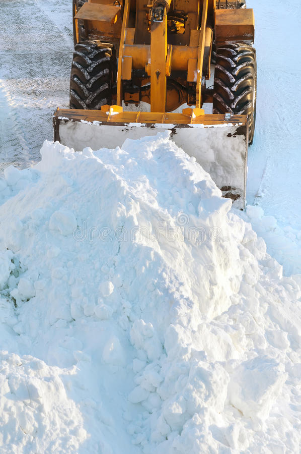Snow clearing stock photos