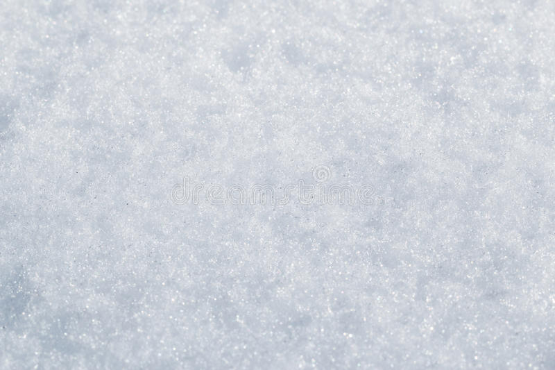 Snow closeup stock photo