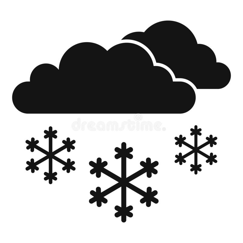 Snow cloud icon, simple style vector illustration