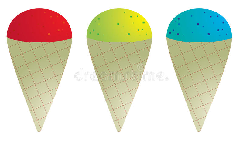 Snow cone vector illustration
