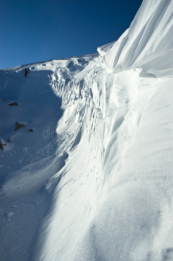 Snow cornice stock photography