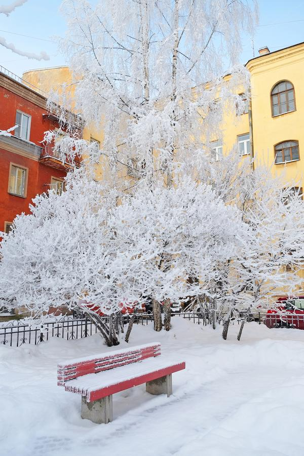 Snow-Covered Bank stock foto's