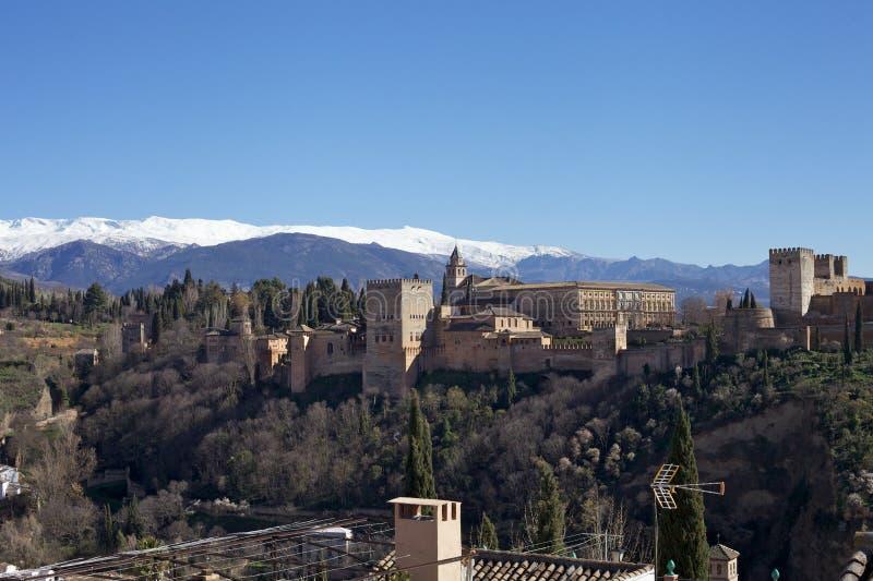 Snow-Covered Berg, Granada royalty-vrije stock fotografie