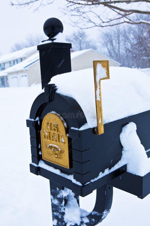 Snow-Covered Brievenbus stock afbeelding