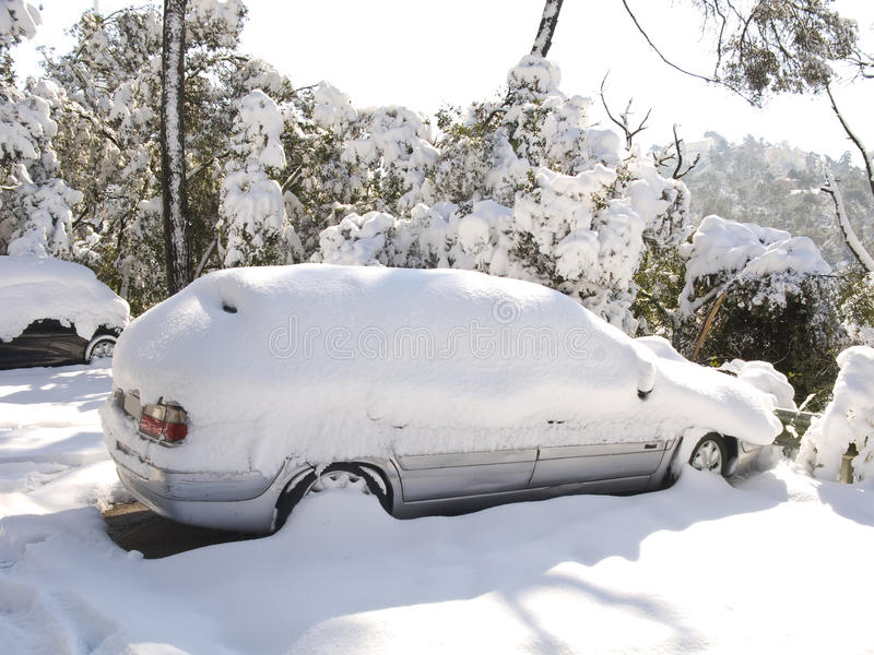 Download Snow covered car stock image. Image of park, outdoor - 16094877