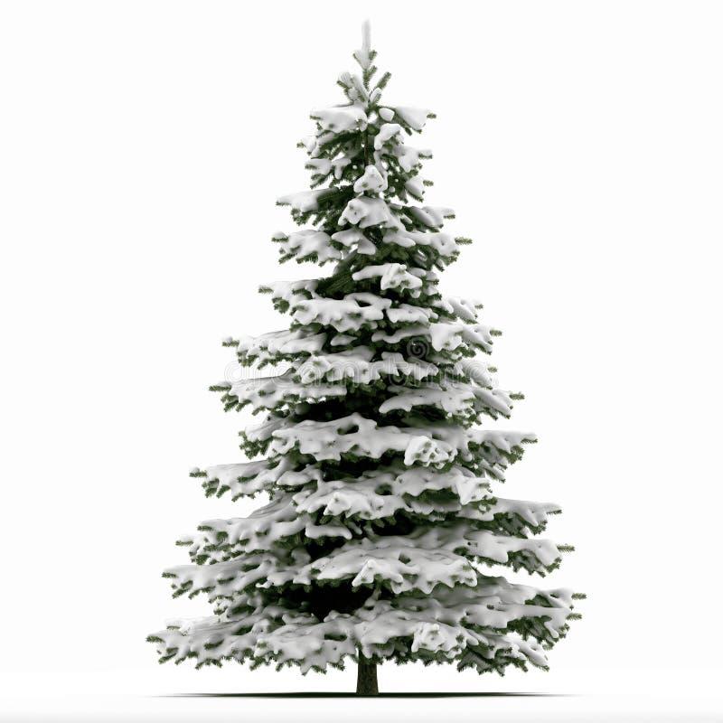 Snow Covered Christmas Tree Stock Photos - Image: 31269273