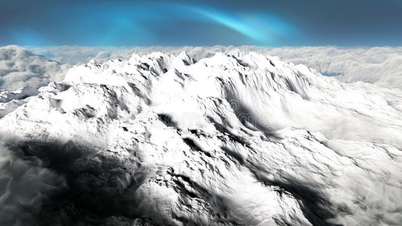 Snow Covered Cold Mountain royalty free illustration