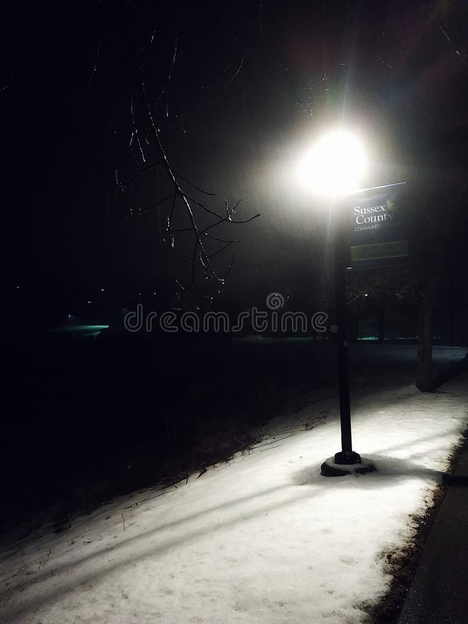 Snow Night stock images