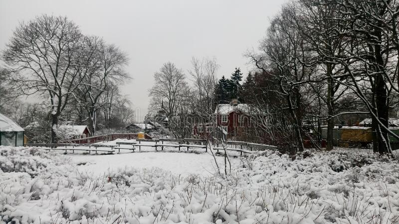 Snow Covered Farm House And Paddock Free Public Domain Cc0 Image