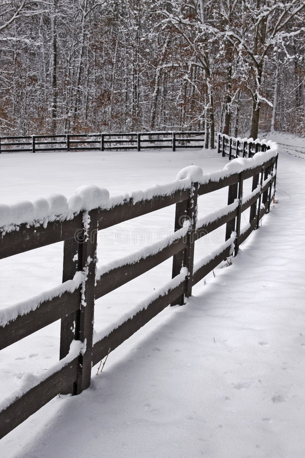 Free Snow Covered Fence Stock Images - 8861834