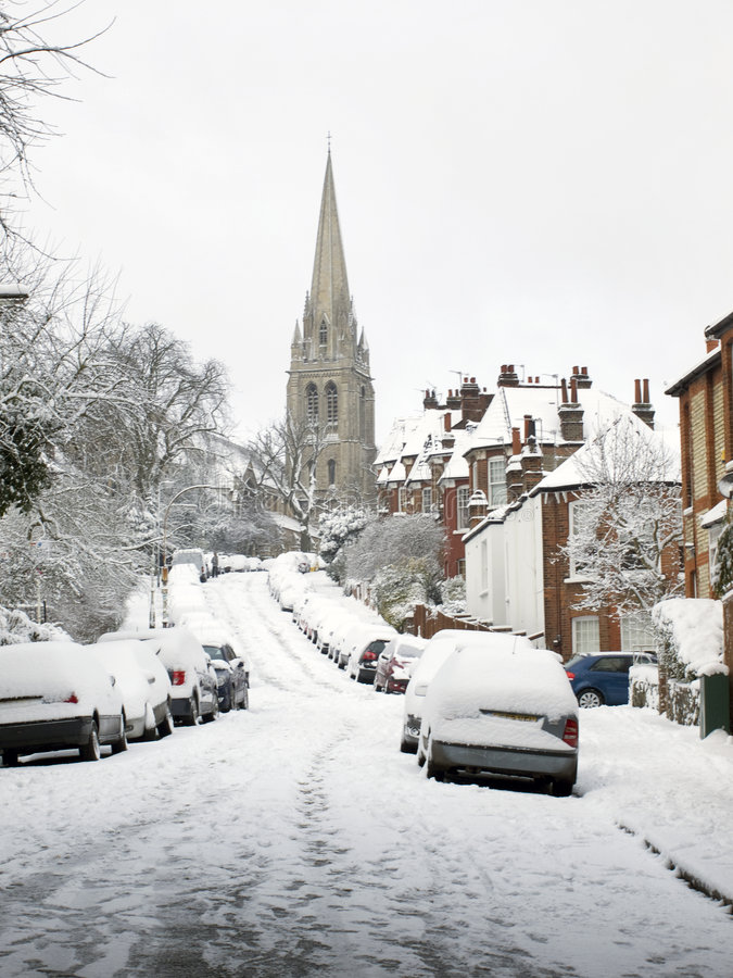 Free Snow Covered London Road. Royalty Free Stock Photos - 8026198