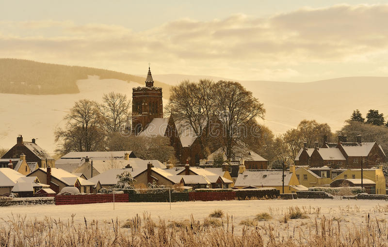 Download Christmas Card Scene, Moffat, Scotland Stock Image - Image: 22038913