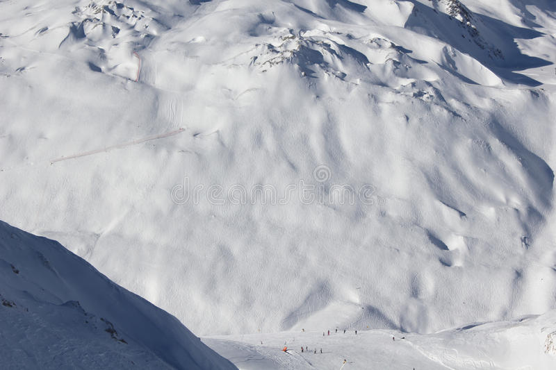 Download Snow covered mountain stock photo. Image of covered, hillside - 25144078