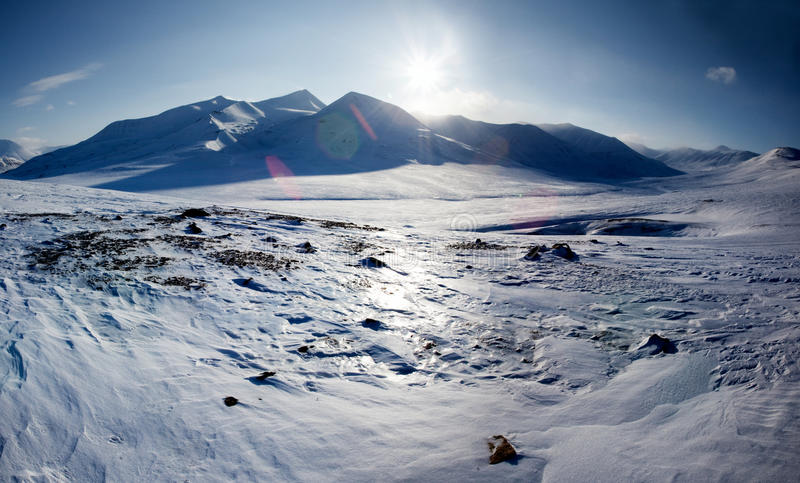 Snow Covered Mountain royalty free stock images