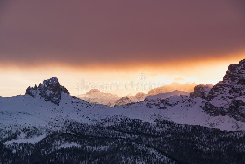 Snow Covered Mountain Alps royalty free stock photos