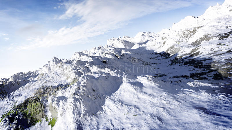 Snow Covered Mountain vector illustration