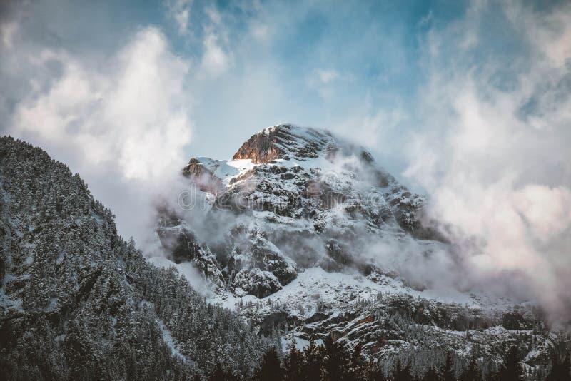 Snow-covered Mountain Peak royalty free stock photo