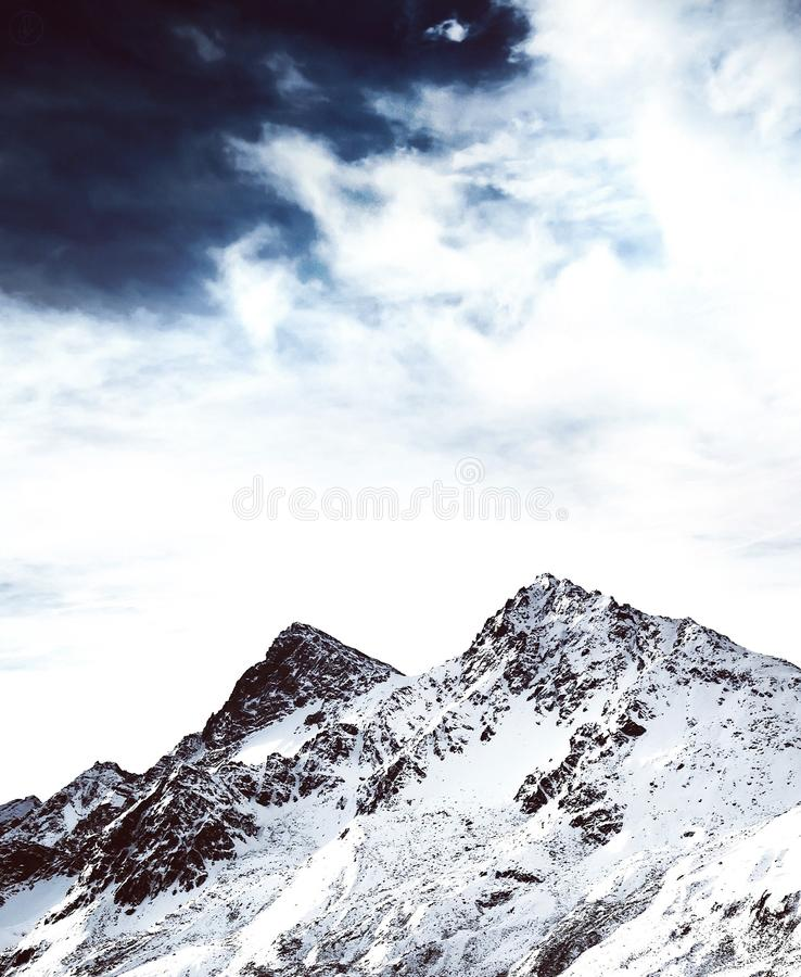 Snow Covered Mountain Peaks Free Public Domain Cc0 Image
