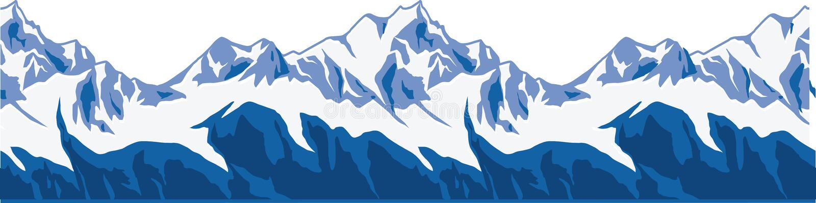 Snow-covered mountains ranges. stock photography