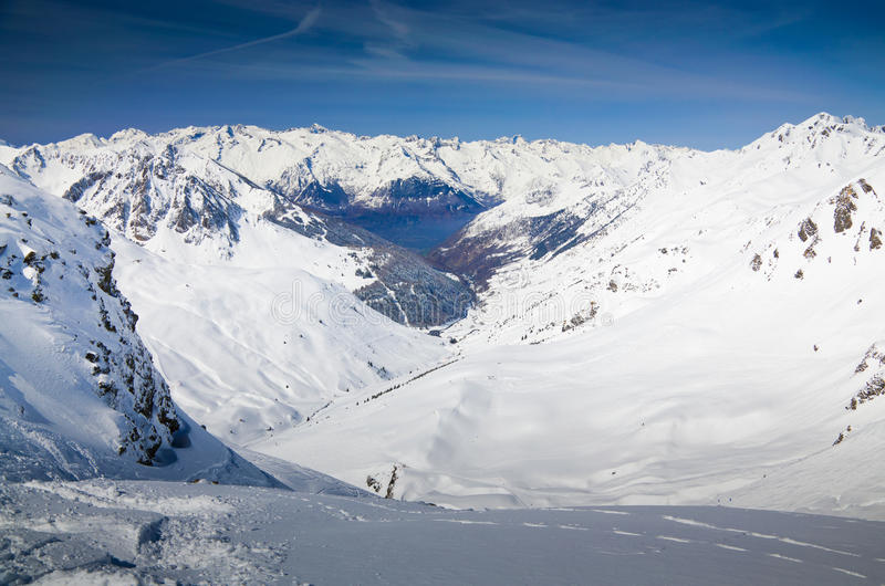 Download Snow-covered Mountains In The Spring Pyrenees Stock Image - Image: 37697691