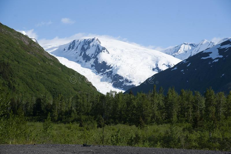 Snow Covered Mountains Whitter Alaska royalty free stock images