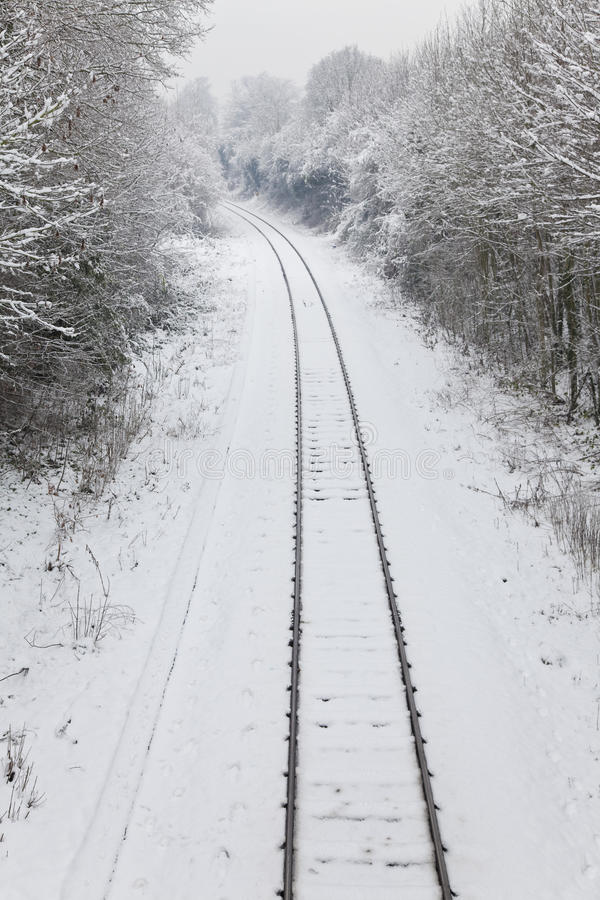 Download Snow Covered Railway Tracks Stock Photography - Image: 12920822