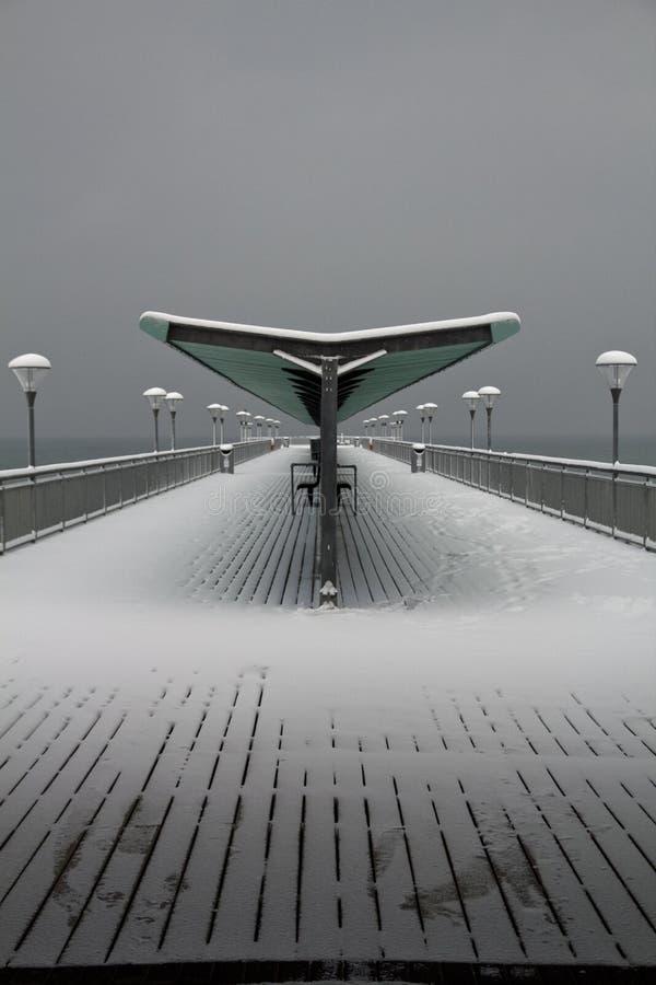 Free Snow Covered Retro Pier At Boscombe Stock Photo - 17466750