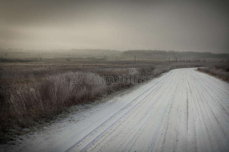 Download Snow covered road stock photo. Image of gray, lonely - 24997580