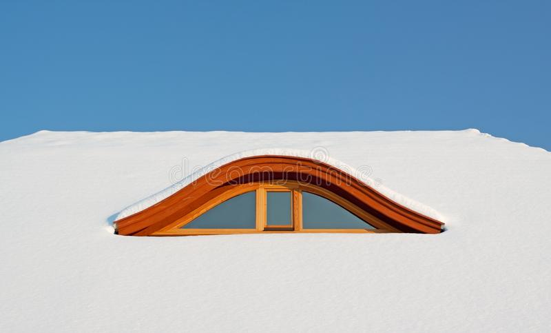 Download Snow covered rooftop stock image. Image of cloud, climate - 12537639