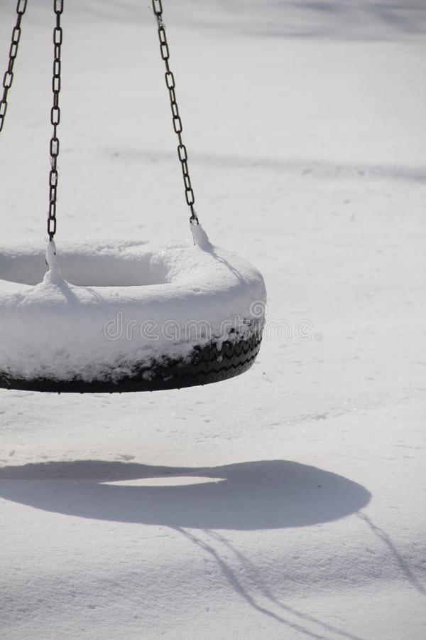 Free Snow Covered Swing Royalty Free Stock Photos - 24655858