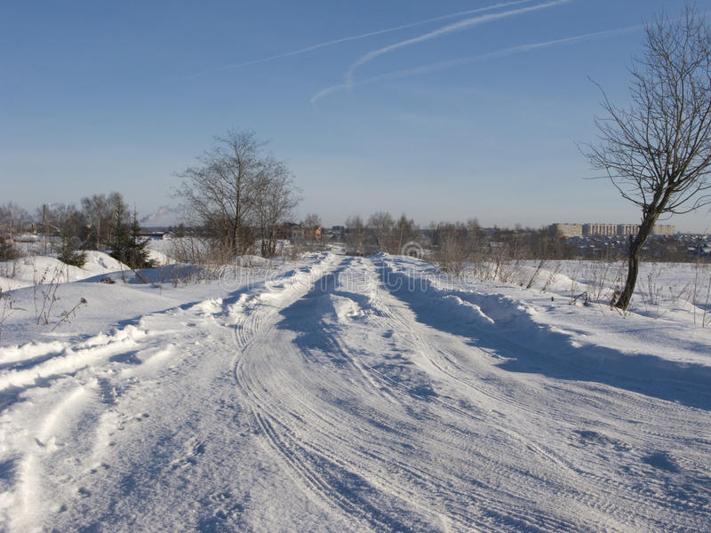 Download Snow-covered Winter Road Royalty Free Stock Photos - Image: 11845398