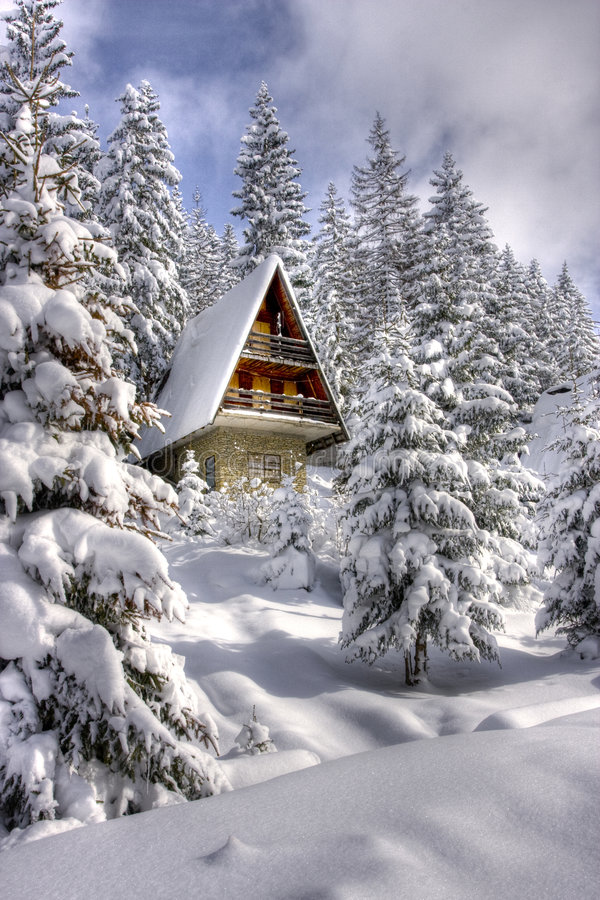 Free Snow Covered Winter Ski Center Stock Images - 8910614