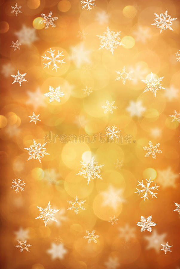 Snow crystal stock image